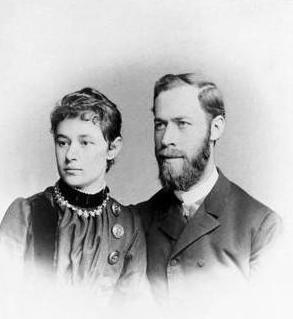 Генрих Герц и его жена Элизабет Долль