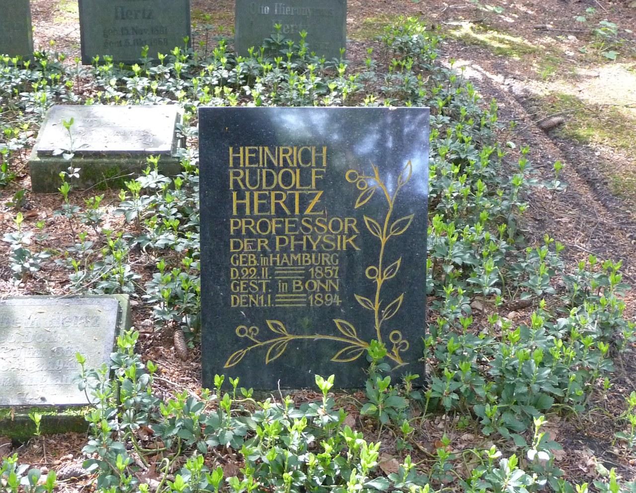 могила Генриха Герца
